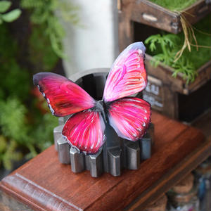 蝶のマグネット メネラウスモルフォ Red  Ssize