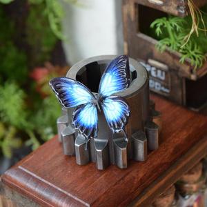 蝶のマグネットオオルリアゲハ blue 2Ssize