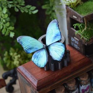 蝶のマグネット メネラウスモルフォ Emarald Msize