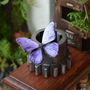 蝶のマグネット メネラウスモルフォ lavender(単色薄い) 2Ssize