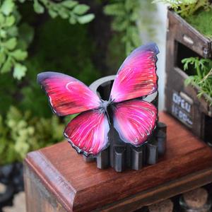 蝶のマグネット メネラウスモルフォ red Msize