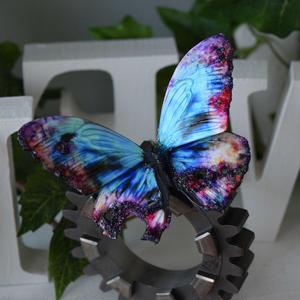蝶のマグネット メネラウスモルフォ  Turquoise erosion Lsize ②