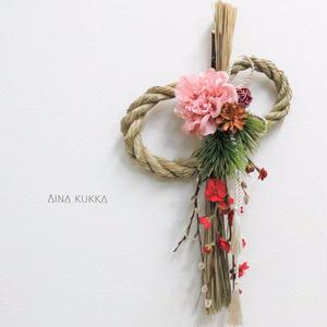 ◇SEASON◇梅とダリアの正月飾り
