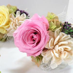 [2way・花束コサージュ]カラー2種/プリザーブドフラワー(SET GIFT対応商品)
