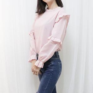 soft frill blouse(white/pink/sora)