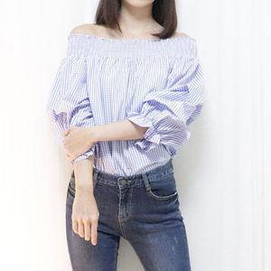off shoulder gc blouse(blue/red/black)