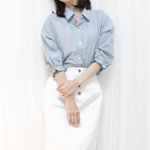 celeb blouse shirt(white/sora/violet)