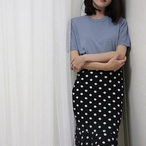 ss basic knit(white/sora/black)