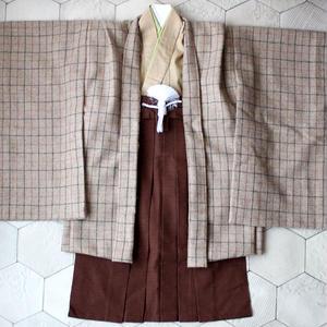 羽織袴セット/タッターソールチェック/5歳