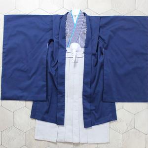羽織袴セット/紺縞/5歳