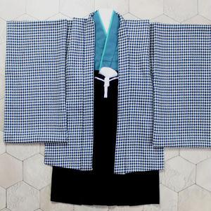 羽織袴セット/千鳥格子/5歳