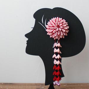 7歳髪飾り/赤桃(H2)