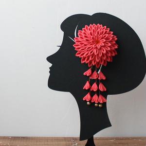 7歳髪飾り/珊瑚(H7)