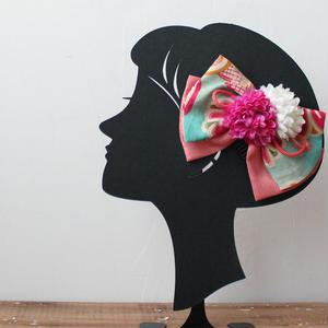 7歳髪飾り/リボン珊瑚(H13)
