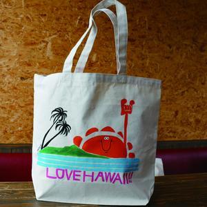 手描きオリジナルBIGトートBAG/LOVE HAWAII!!