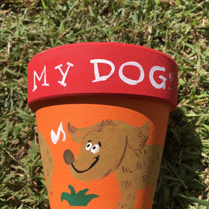 my dog 植木鉢4号