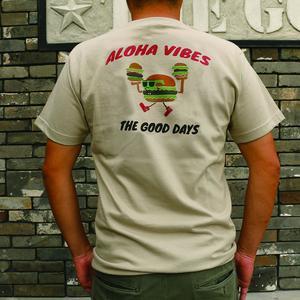 ALOHA VIBES -T シャツ シルバーグレー