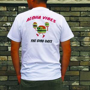 ALOHA VIBES -T シャツ ホワイト