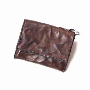 ANNAK ウォッシュフラップ付2つ折り蛇腹財布 ダークブラウン AK8TA-B8010