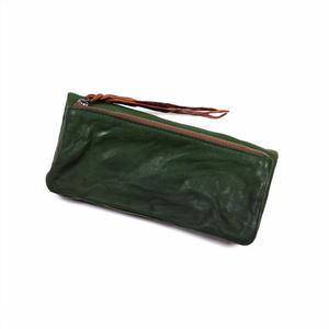 ANNAK ウォッシュ袋縫いソフト長財布 グリーン AK12TA-B0024