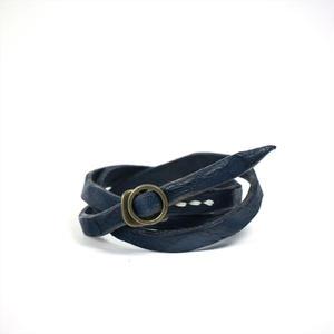 ANNAK ウォッシュ3重巻ブレスレット ネイビー AK8TA-D8010