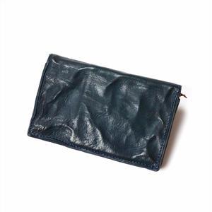 ANNAK ウォッシュ2つ折りミドルサイズ財布 ネイビー AK11TA-B0020