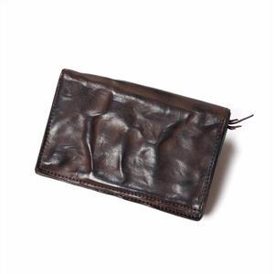 ANNAK ウォッシュ2つ折りミドルサイズ財布 ダークブラウン AK11TA-B0020