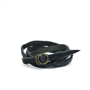ANNAK ウォッシュ3重巻ブレスレット ブラック AK8TA-D8010