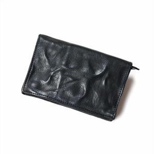 ANNAK ウォッシュ2つ折りミドルサイズ財布 ブラック AK11TA-B0020