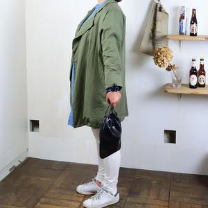 ANNAK アマンダオイル 手持ち巾着2WAYバッグ ブラック AK18TA-A0090