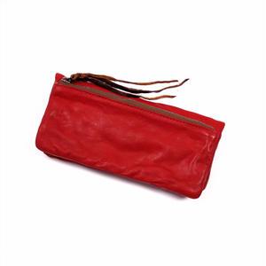 ANNAK ウォッシュ袋縫いソフト長財布 レッド AK12TA-B0024