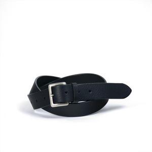 ANNAK イタリーレザー手縫い止めベルト ブラック AK15SP-C0007
