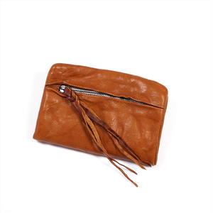 ANNAK ウォッシュ袋縫いソフト2つ折り財布 ベージュ AK12TA-B0025