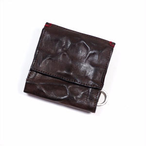 ANNAK ウォッシュ外小銭リング付変形3つ折り財布 ダークブラウン AK7TA-B7002