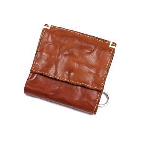 ANNAK ウォッシュ外小銭リング付変形3つ折り財布 ベージュ AK7TA-B7002