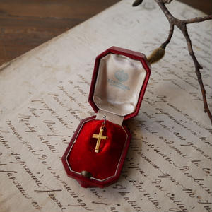フランスアンティーク クロス 十字架 ネックレストップ 送料無料