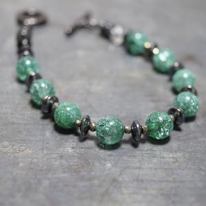 """クラッククォーツ スピーナブレス[グリーン]""""CLACKQAURTZ spina bracelet(GREEN)"""""""