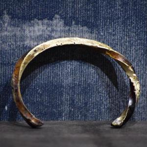 """ウィザリング ツイステッド ブラスバングル#3""""withering twisted brass bangle #3"""""""