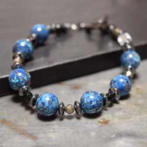 "クリソコラ AAA 10mm スピーナブレス""CHRYSOCOLLA AAA 10mm spina bracelet"""