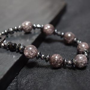 ブラッククラッククリスタル スピーナブレス ''BLACKCRACKCRYSTAL 10mm spina bracelet''