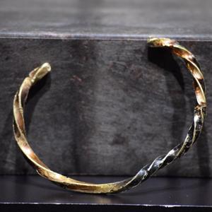 """ウィザリング  ツイステッド ブラスバングル#1""""withering twisted brass bangle #1"""""""