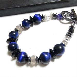"""パープルタイガーアイ&オニキス ブレス """"PURPLETAIGEREYE & ONYX bracelet"""""""