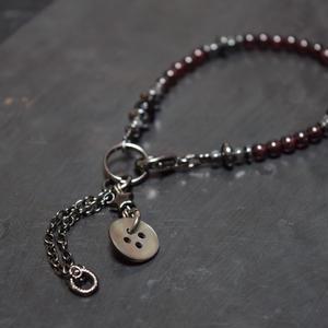 """ガーネット 4mm チェーンテイル ブレス""""GARNET 4mm chaintail bracelet"""""""