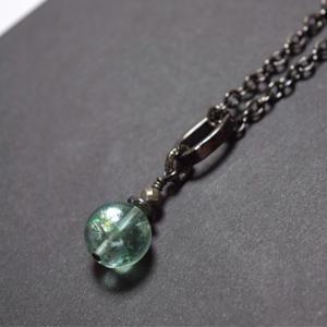 """フローライト 12mm AAAソリタリー ネックレス""""FLOWRITE 12mm AAA solitary necklace"""""""