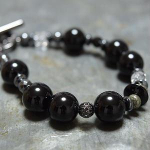 オニキス 12mm  イレギュラー ブレス''ONYX 12mm irregular bracelet''