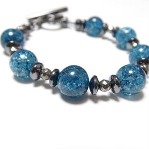 """ブルークラッククリスタル  スピーナブレス""""BLUE CLACK CRYSTAL spina bracelet"""""""