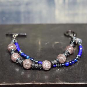 """ブラッククラッククォーツ カラースタックレイヤーブレス""""BLACKCLACKQUARTZ color stack bracelet"""""""