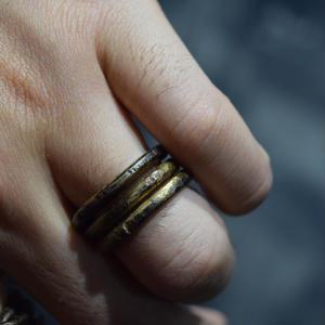 """ウィザリング スパイラル ブラスリング#2 """"withering spiral brass ring#2"""""""
