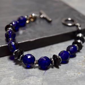 """アルクス チェコガラス シングル ブレス[ダークネイビー]""""ARCUSczechglass single bracelet(DARKNAVY) """""""