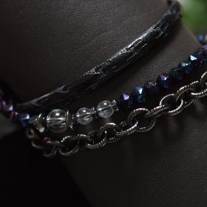 """アルクス  レザー&チェーン マルチラップブレス""""ARCUS leather&Chain multiwrap bracelet"""""""""""